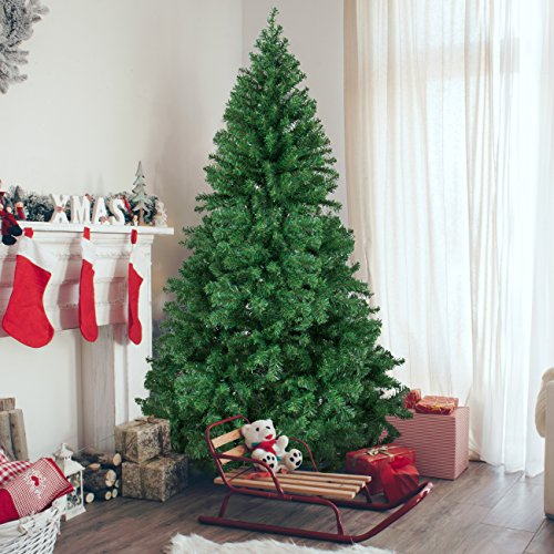 Artificial Christmas Trees - Best Choice Products 6' Premium Hinged Artificial Christmas Pine Tree With Solid Metal Legs 1000 Tips Full Tree
