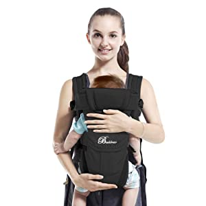 SpringBuds Baby Carriers Front and Back for Newborns to Toddlers, 6-in-1 Baby Kangaroo Carrier Wrap Backpack for Dad and Mom, 0-36 Months Perfect Baby Shower Gift