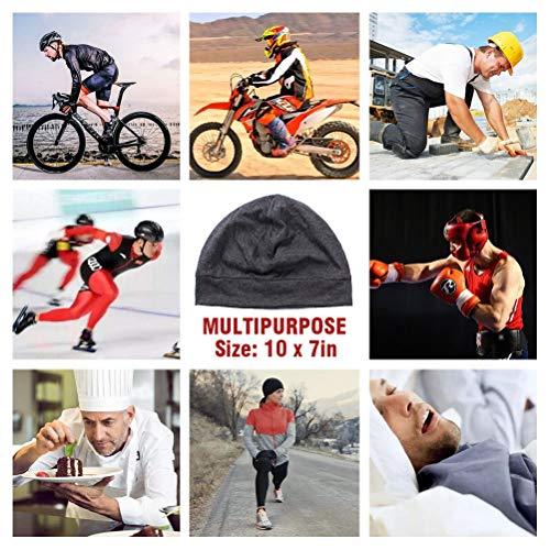 Headshion Skull Cap, Men & Women Multifunctional Headwear Bike Hard Hat Helmet Liner Cotton Beanie Sleep Caps - 2 Pack 7