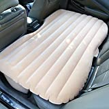 EGI Universal Beige Inflatable Car Mattress for Back Seat of Sedan, SUV, Pickup Trucks, Mini Van, and Semi Trucks