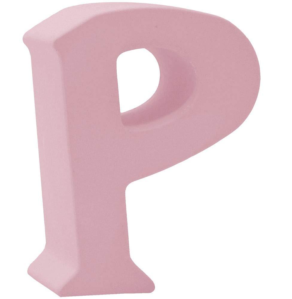 Buchstaben Stehend 3D Rosa Tischdeko Name Alphabet Kommunion Konfirmation Taufe Deko A-Z Form:N