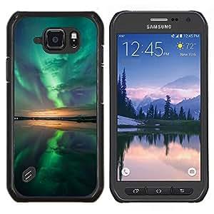 Smartphone duro PC Carcasa Funda protectora para Samsung Galaxy S6Active Active G890A/Phone Case TECELL Store/Aurora boreal reflexión