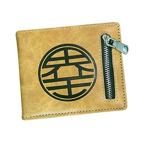 Anime Son Goku Men Women Boys Girls Short Leather Bi Fold Wallet Purse Money Holder Men Women (3) -
