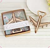 ''Let the Adventure Begin'' Airplane Bottle Opener For Wedding Favor, Set of 72