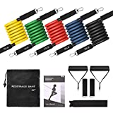 Resistance Bands,TOPELEK 12 Pieces Resistance Bands Set,5 Fitness Tubes,with Door Anchor,Ankle Straps,Workout Guide,Carrying