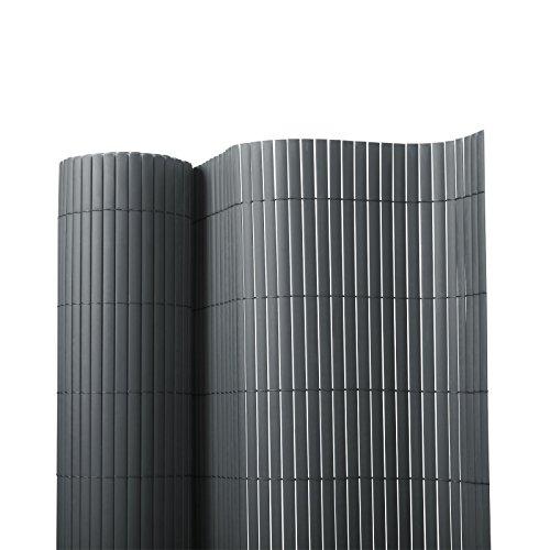 Sichtschutz Zaun für Außenbereich | grau | Größe wählbar (150x500cm)