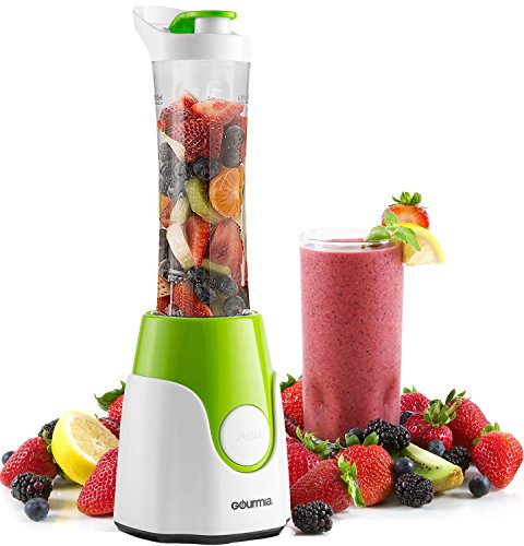 Gourmia GPB250 Personal Home Blender - BlendMate Smoothie Plus Edition - with Travel Sport Bottle Lid and Dual (Ninja Plus Blender)