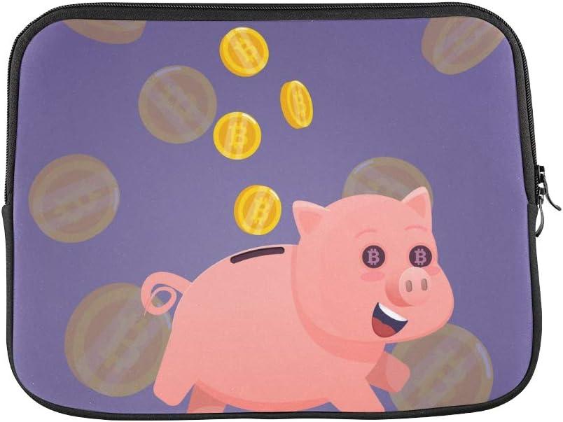 Unique Custom Cute Funny Piggy Piggy Bank Print Ladies Laptop Case Soft Computer Laptop Briefcase Briefcase Protective for MacBook Air 11