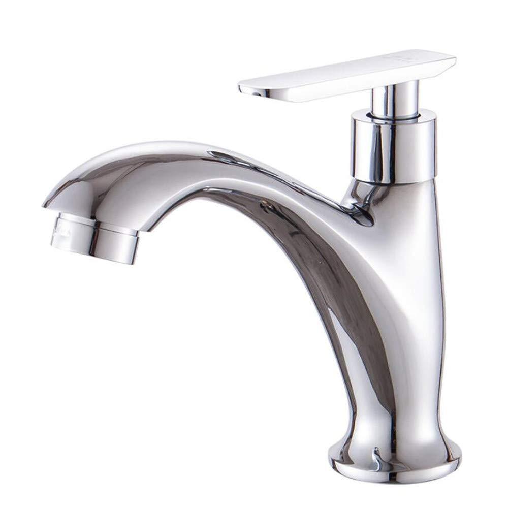 Waschtischarmaturenbecken Becken Einzelne Kaltwasserhahn Bad Waschbecken Becken Waschbecken Einhand Einlochhahn