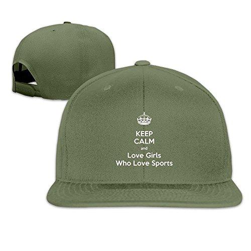 MaNeg Keep Calm And Love Girls Who Love Sports Unisex Fashion Cool Adjustable Snapback Baseball Cap Hat One Size (Reebok Adjustable Basketball Hoop)