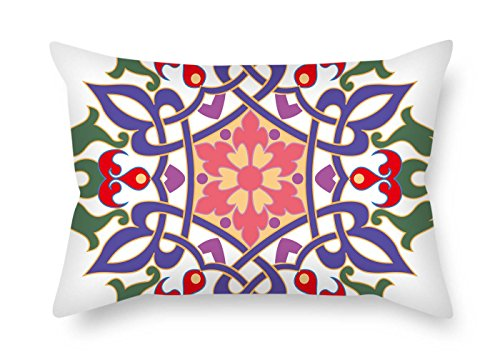 (eyeselect Bohemian Cushion Cases 18 X 26 Inches / 45 by 65 cm Best Choice for Divan Husband Dance Room Relatives Home Theater with Each Side for Christmas)