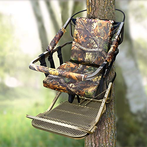 XtremepowerUS Portable Hunting Tree Stand Climber Deer Bow Game Hunt with Step-On Platform
