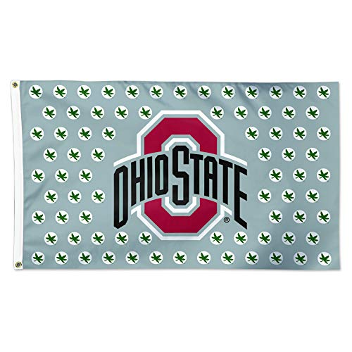 - WinCraft Ohio State Buckeyes Grey Buckeye NCAA Football 3 x 5 Foot Flag