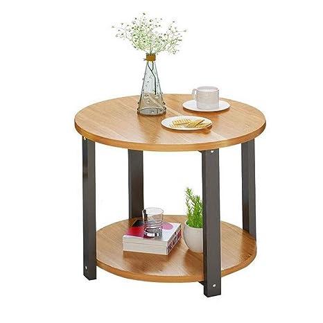 ACZZ Mesa auxiliar, pequeña lámpara de mesa redonda Planta ...
