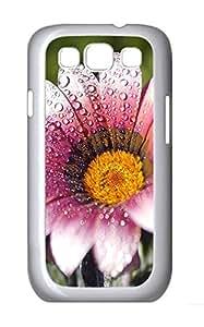 Samsung S3 Case Wet Flower PC Custom Samsung S3 Case Cover White