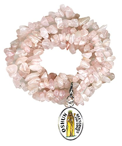 ssings of Love Rose Quartz Gem Wrap Bracelet ()