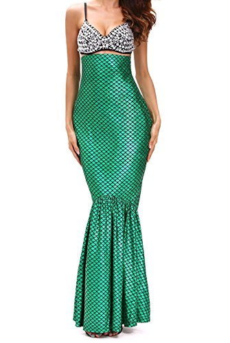[YeeATZ Women's Deluxe Under The Sea Mermaid Halloween Costume(Size,M)] (Sexiest Couple Halloween Costumes)