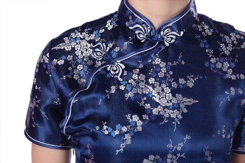 Aderente Yichun Partito Della Donne Delle Qipao Vestito Vestito Breve Marina Cheongsam Cinese C5P5xwq8T0