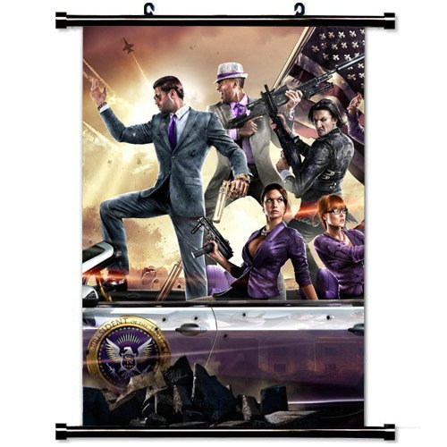 Modern style Home Decor Custom Poster with Weapons Saints Row Characters Iv Wall Scroll Poster Fabric Painting 23.6 X 35.4 Inch (60cm X 90 cm)