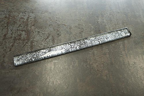 (TJCG-09 Silver Glass Pencil Liner Wall Trim Border 1