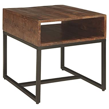 Ashley Furniture Signature Design - Hirvanton End Table Open Cubby - Warm Brown