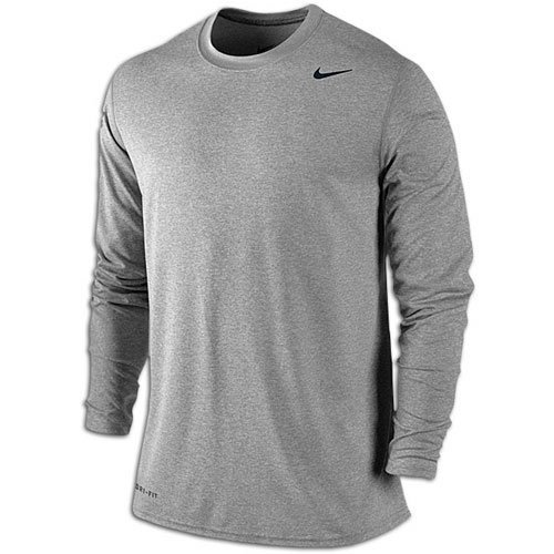 Nike Mens Leggenda Manica Lunga Tee Carbonio Heather