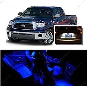 ameritree toyota tundra 2007 2016 10 pieces blue led lights interior package. Black Bedroom Furniture Sets. Home Design Ideas