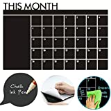 Chalkboard Wall Sticker Dry Erase Contact Paper Self Adhesive Blackboard Contact Paper Removable Wall Decals.Easy Set Up for Home, Office, Classroom, Kitchen (23.6″x 36.2''(DS002-6))
