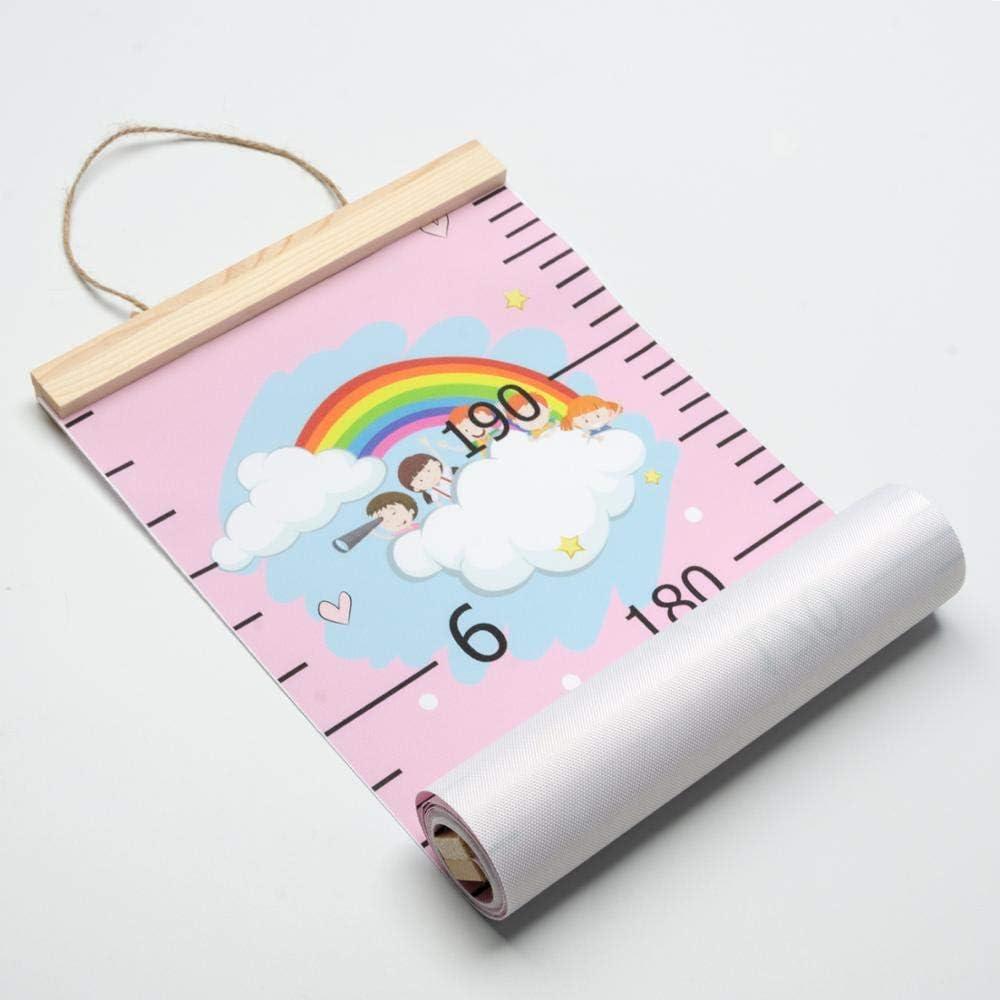 Lineal Ma/ßstab f/ür Kinder Regenbogen-Einhorn Kinder-Wachstumstabelle Wandaufkleber Wandaufkleber Jungen und M/ädchen