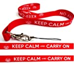 KEEP CALM and CARRY ON LANYARD NECK S...