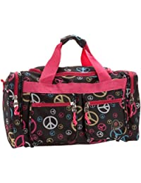 Rockland PTB419 Luggage Tote Bag, Peace Multi, One Size, 19-Inch