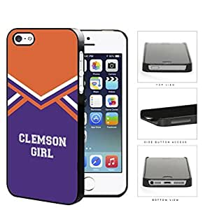Clemson City Girl School Spirit Cheerleading Uniform iPhone 4 4s Hard Snap on Plastic Cell Phone Cover