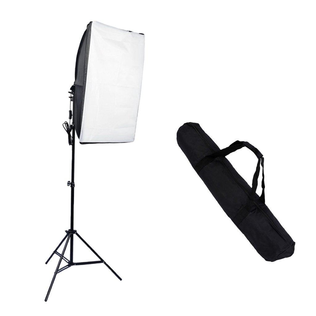 MagiDeal Portable Carrying Bag+ Photo Video Studio Lighting Kit+2meter Light Stand by MagiDeal