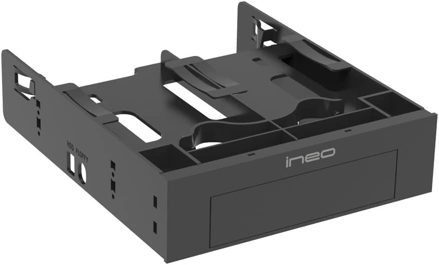 3544 Mounting Bracket 2x2.5 inch and 1x 3.5 inch ineo Tool Free Mounting Kit 2.5 inch to 3.5 inch Internal SSD//HDD