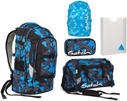 Schlamperbox, Sporttasche, Regenh/ülle, Stylerbox Satch Pack Schulrucksack Set 5tlg.