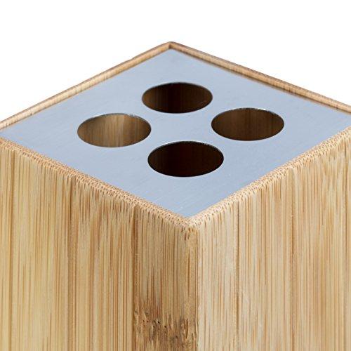 Relaxdays Badaccessoires Bambus 3 Teiliges Badezimmer Set Aus Seifenspender Seifenschale U Zahnburstenhalter Natur