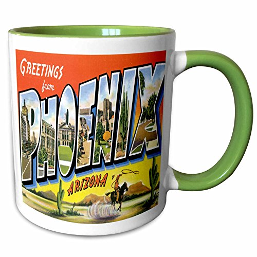 3dRose 160716_7 Greetings from Phoenix Arizona with Cowboy on a Ho Ceramic Mug, - Outlet Phoenix