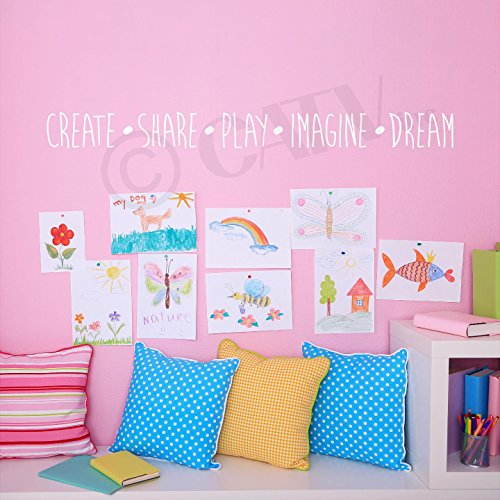 Imagine Vinyl Lettering Wall Sticker product image