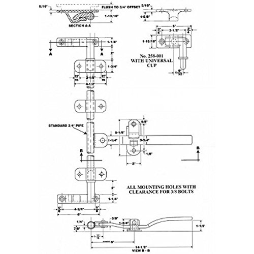 Heavy duty cam lock by Polar Hardware