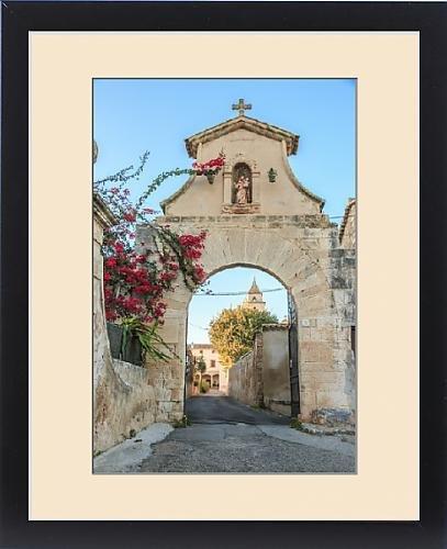 Framed Print of Europe, Spain, Balearic Islands, Mallorca, church near Possessio la Real Manor by Fine Art Storehouse