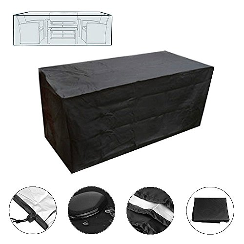 SUSUO Rectangular/Oval Table and Chair Set Cover for Outdoor Furniture - All Weather Protective,Waterproof (84