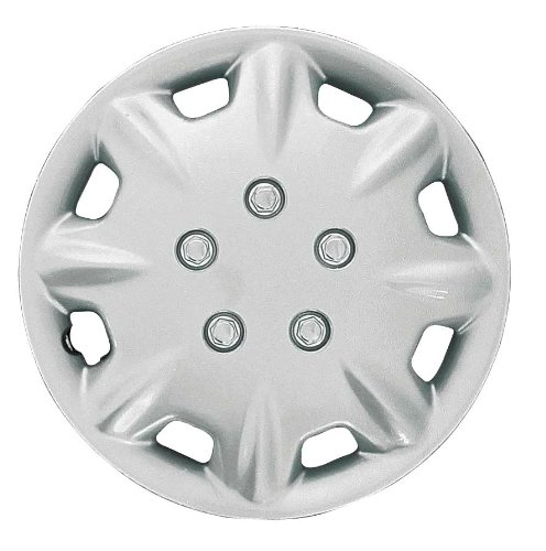 (CCI IWCB8094-14S 14 Inch Clip On Silver Finish Hubcaps - Pack of 4)