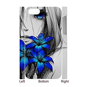 Custom New Case for Iphone 4,4S 3D, Art Design Of Girl Phone Case - HL-R675059