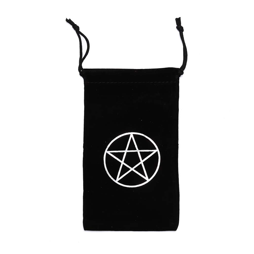 Tboxbo Velvet Star Tarot Bags with Drawstring Card Storage Bag for Board Games Bundle of 3 Purple Blue Black by