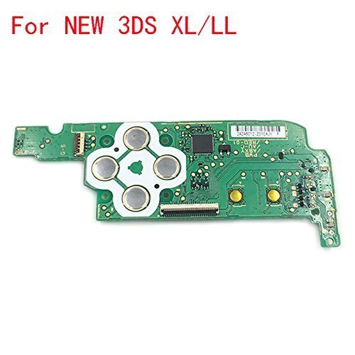 New Replacement Power Switch Button Board D Pad ABXY Button Board for Nintendo New 3DS ()