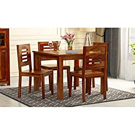 Credenza Solid Sheesham Wood Wooden Dining Table