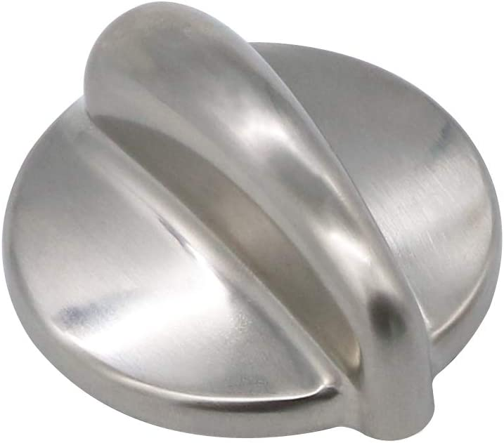 Heavy Duty Metal WB03K10303 Chrome Cooktop Control Knob Compatible with GE Replacement by AMI PARTS