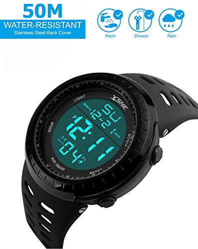 Digital Sports Watch Water Resistant Outdoor Electronic ...