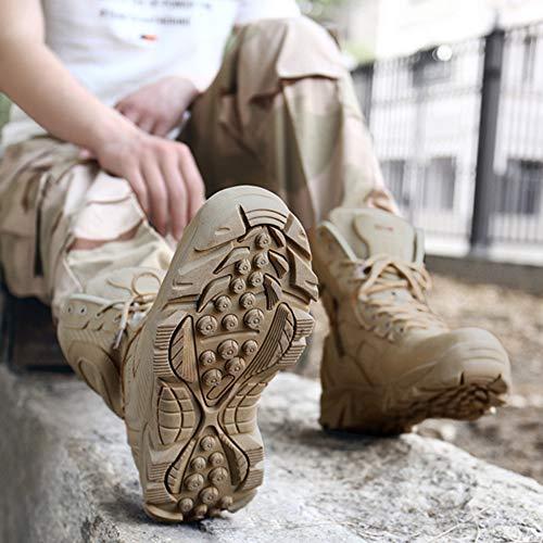 in Alte Tattiche Black Alpinismo Militari Scarpe da Trekking Scarpe Uomo All'aperto Pelle Combattimento per da Stivali Ginnastica da Pattuglia Militare da Stivali da Escursione Martin PfH7dPqw