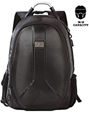 OG Online&Go Getaway Mochila Moto Impermeable, Hombre, Rígida, Gran Capacidad, Expandible 35L/45L, Bolsa Porta-Casco Motorista, Correa Casco, Antirrobo, Reflectante, USB, Portátil